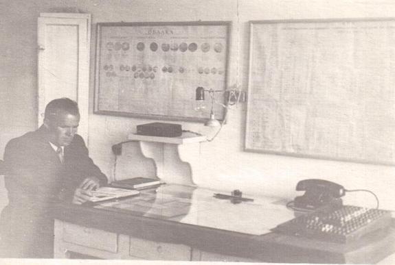 П.В Серпов Ажлын өрөөндөө 1937 он